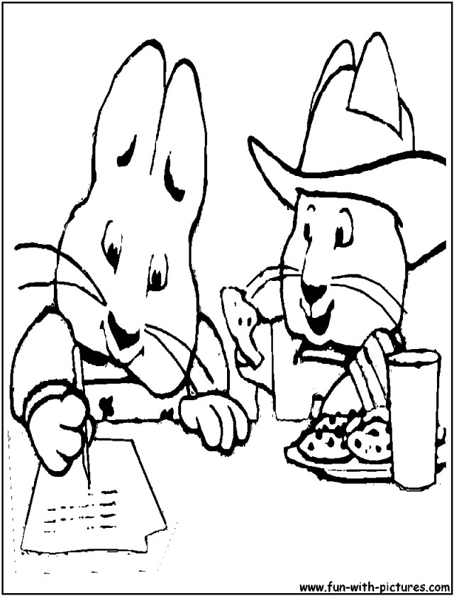 Max And Ruby Coloring Pages Max And Ru Coloring Page Max And Ru Coloring Pages Maxandru