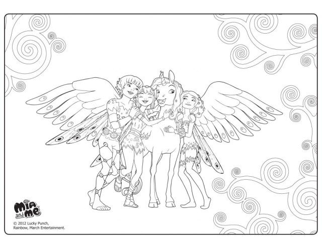 Mia And Me Coloring Pages Chat Noir Mia And Me Coloring Pages Pic Share Colorier