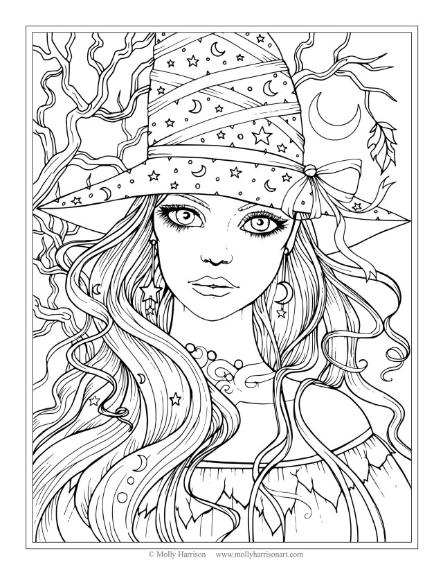 Mia And Me Coloring Pages New Free Witch Coloring Page Halloween Coloring Pages Molly
