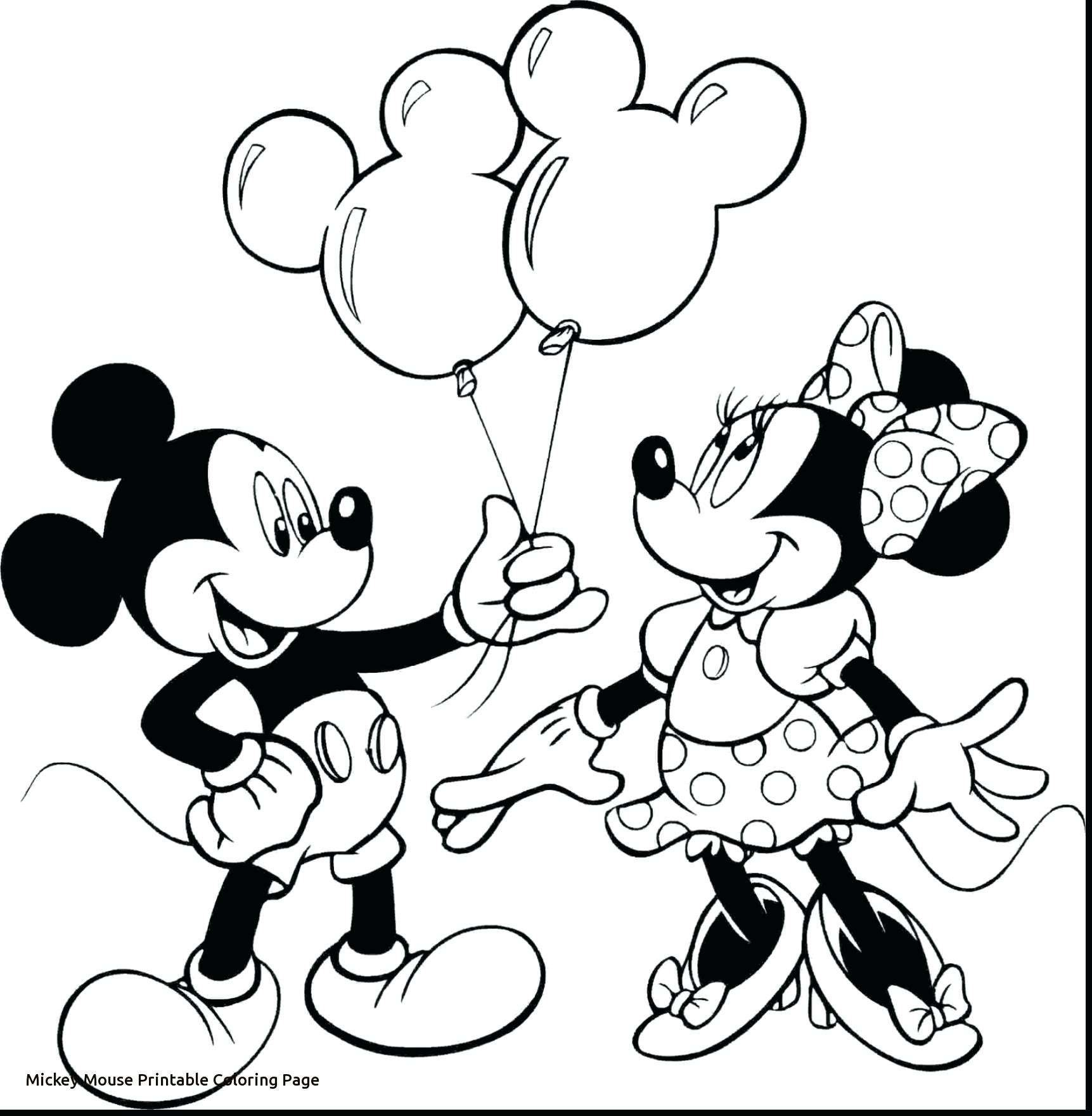 Mickey Mouse Christmas Coloring