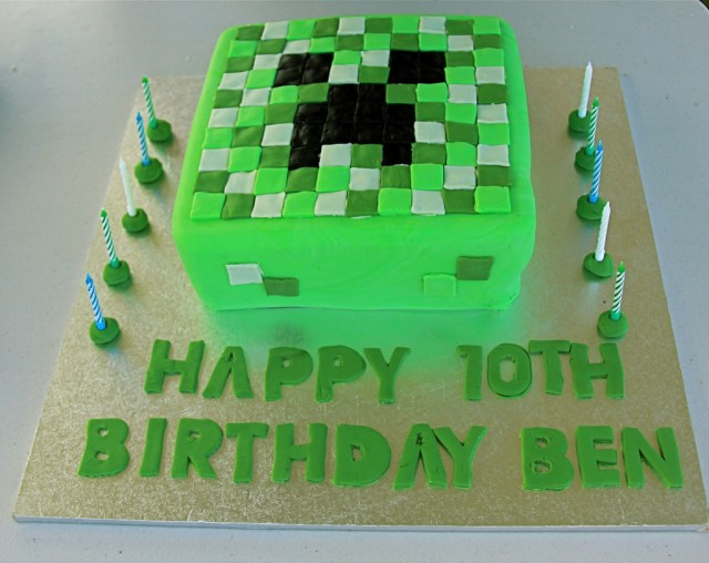 Minecraft Birthday Cake Minecraft Birthday Cake My Son Requested A Creeper Minecra Flickr