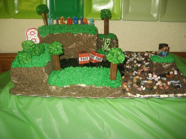 Minecraft Birthday Cake Minecraft Birthday Cake With Pictures