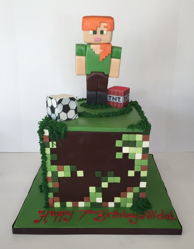 Minecraft Birthday Cake Minecraft Birthday Cakes Cakes Robin