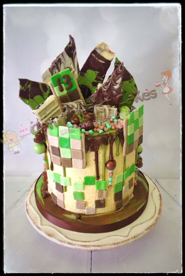 Minecraft Birthday Cake Minecraft Themed Birthday Cake Perfect For Boys Or Girls Minecraft