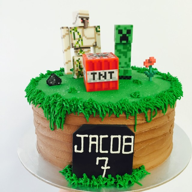 Minecraft Birthday Cake Novelty Cakes Vanilla Pod