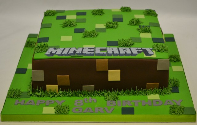 Minecraft Birthday Cake Square Minecraft Cake Boys Birthday Cakes Celebration Cakes