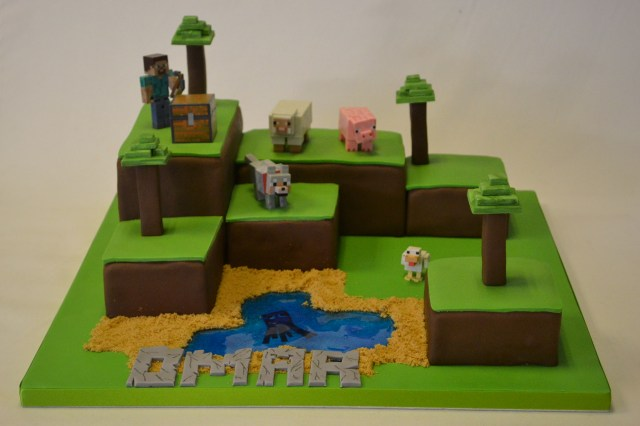 Minecraft Birthday Cakes Minecraft Island Cake Boys Birthday Cakes Celebration Cakes