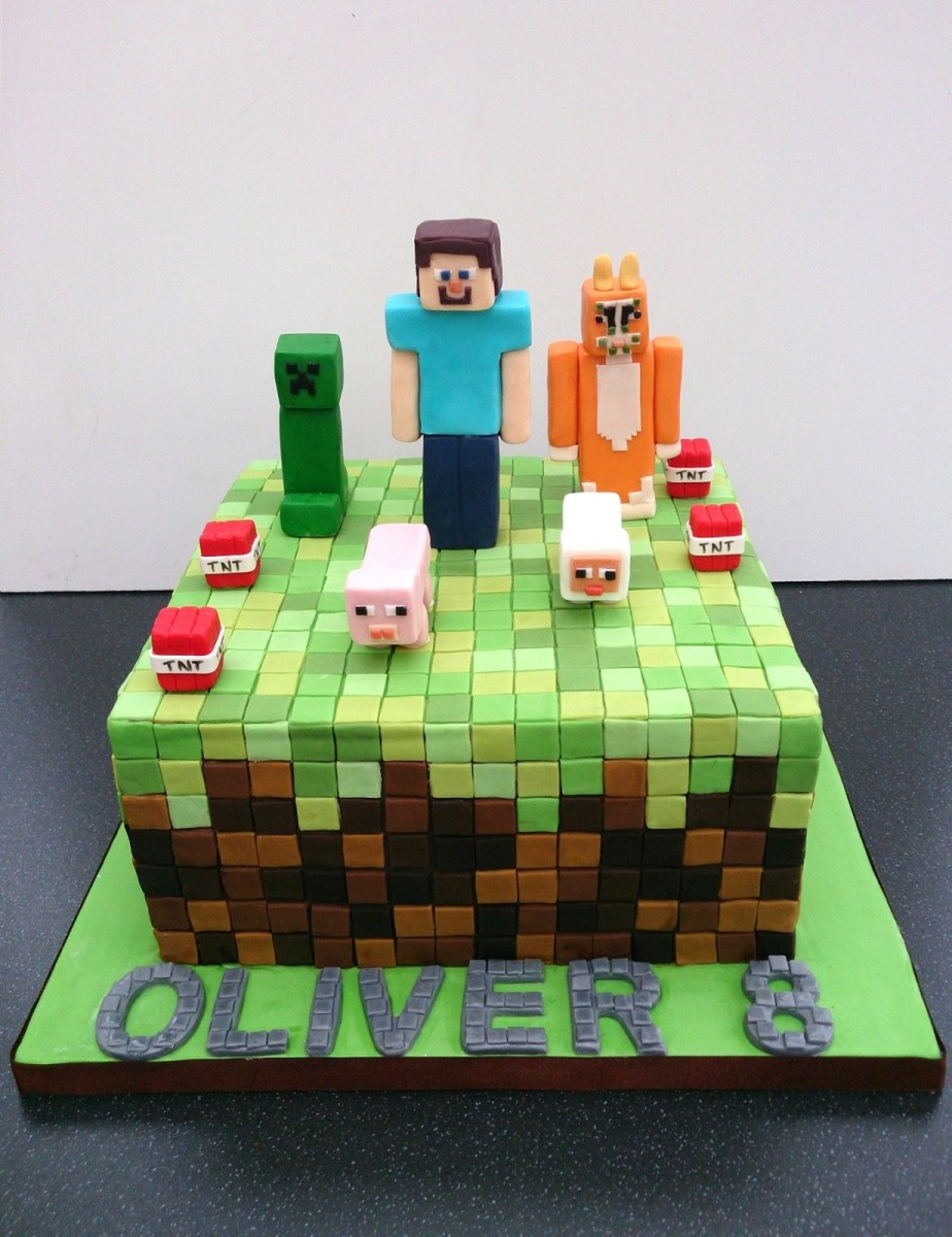 Groovy Minecraft Birthday Cakes Pin Ana On Minecraft Minecraft Cake Funny Birthday Cards Online Fluifree Goldxyz