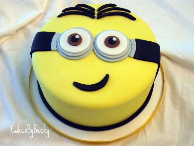Minion Birthday Cake Images Cakes Becky Minion Birthday Cake