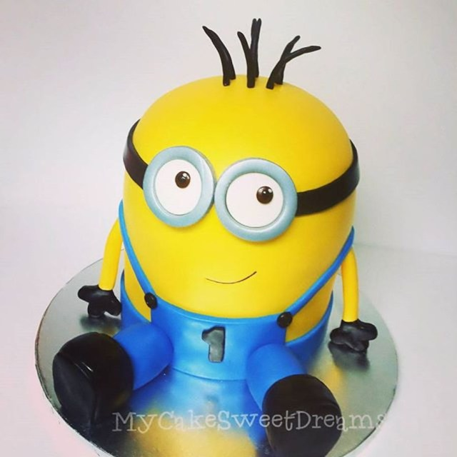 Minion Birthday Cake Images Minion 1st Birthday Cake Cakecentral