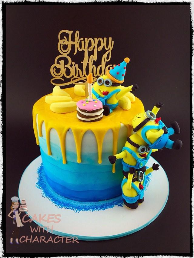 Minion Birthday Cake Images Minion Birthday Cake With Tower Of Fondant Minions Yellow Chocolate