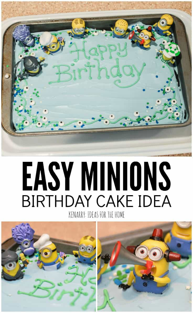 Prime Minion Birthday Cakes Minions Birthday Cake An Easy Despicable Me Funny Birthday Cards Online Fluifree Goldxyz