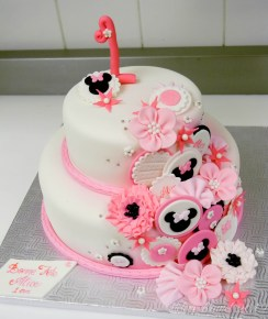 Minnie Mouse Birthday Cakes 1st Birthday Minnie Mouse Inspired Cake Cakecentral