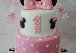 Minnie Mouse Birthday Cakes 2 Tiered Minnie Mouse Birthday Cake Miny Pinterest Minnie
