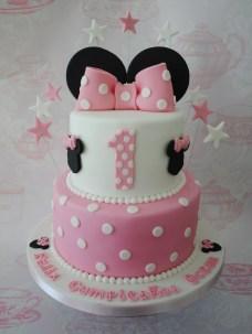 Minnie Mouse Birthday Cakes 2 Tiered Minnie Mouse Birthday Cake Miny Pinterest Minnie