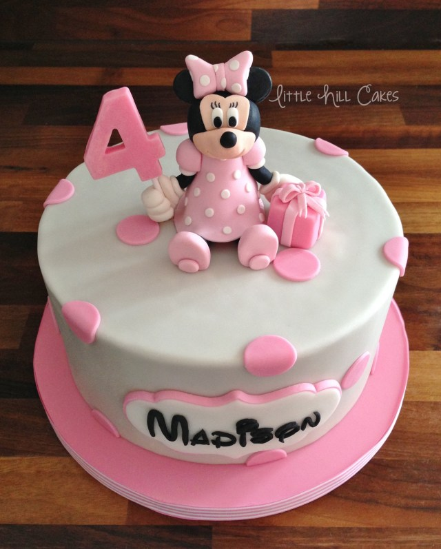 Minnie Mouse Birthday Cakes Minnie Mouse Birthday Cake Little Hill Cakes