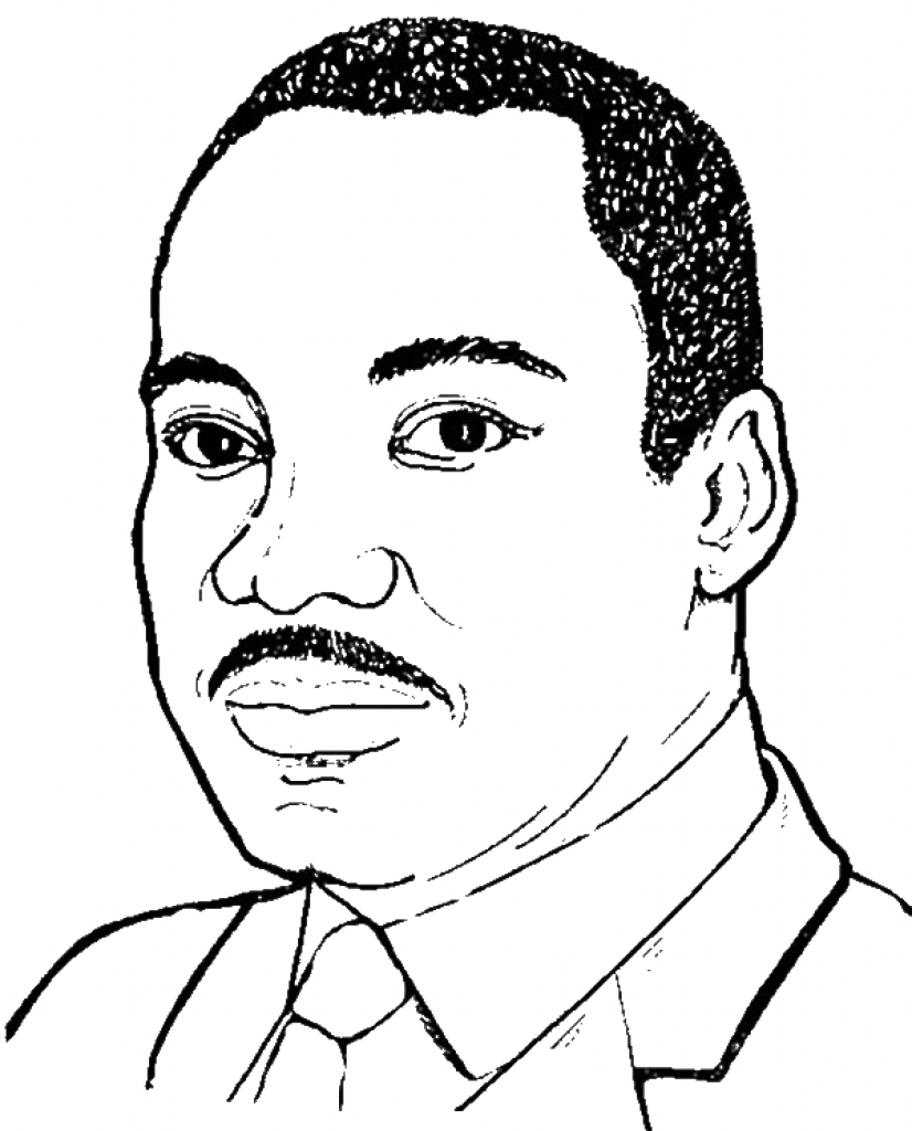 Martin Luther King Jr. coloring page | Free Printable Coloring Pages | 1024x826