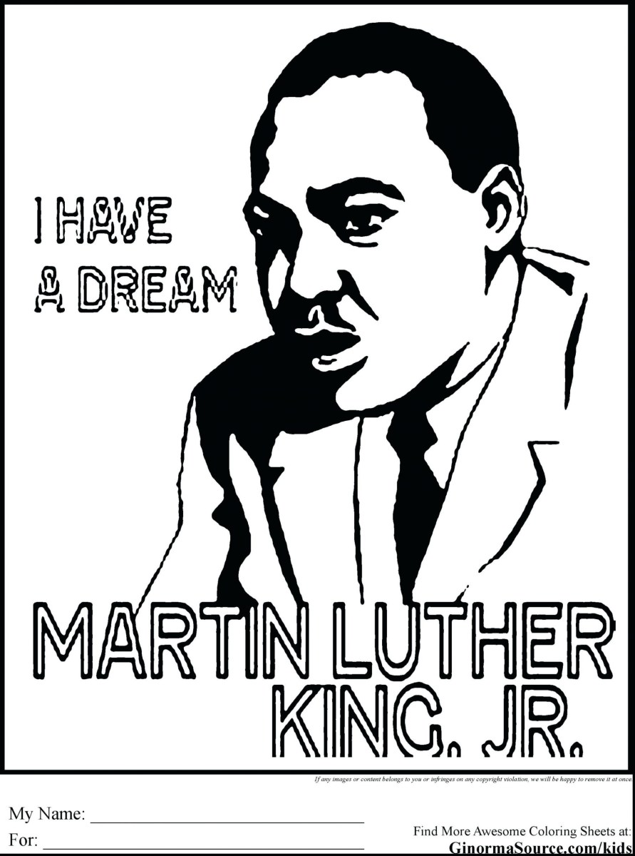 Mlk Coloring Pages Dr Martin Luther King Jr Coloring Pages ...