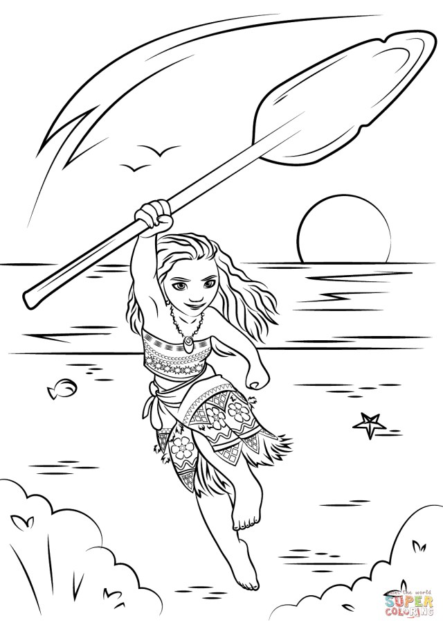 Moana Printable Coloring Pages Moana Coloring Page Free Printable Coloring Pages