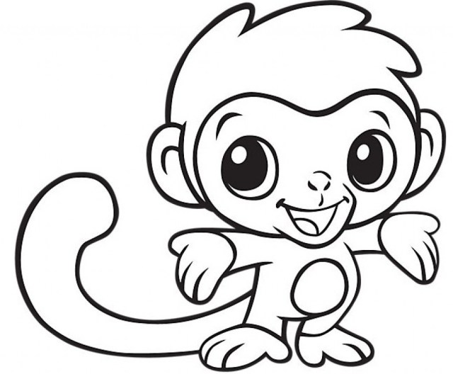 Monkey Coloring Pages Ba Monkeys Coloring Pages Parkspfe