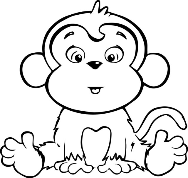 Monkey Coloring Pages Cute Ba Monkey Coloring Pages Free To Print 49021 Thanhhoacar