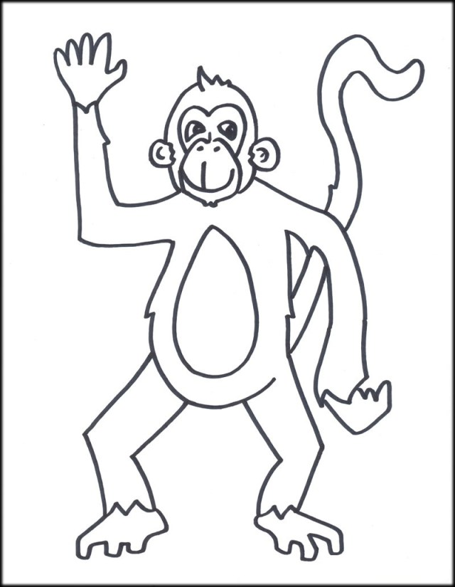 Monkey Coloring Pages Free Printable Monkey Coloring Pages For Kids At Of Monkeys