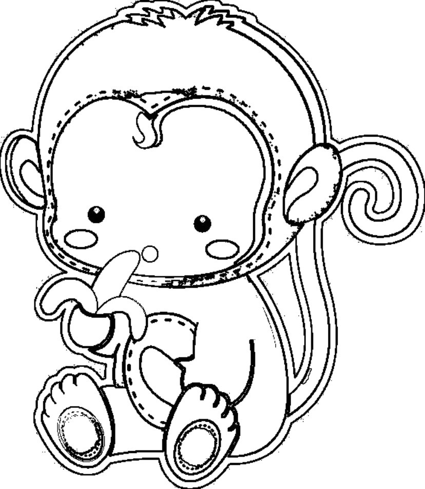 Monkey Coloring Pages Monkey Color Pages Ironenclave - birijus.com