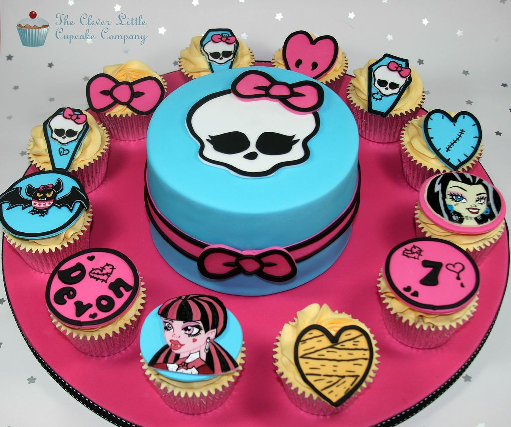 Terrific Monster High Birthday Cakes Monster High Cakes And Cupcakes Kuchen Funny Birthday Cards Online Fluifree Goldxyz