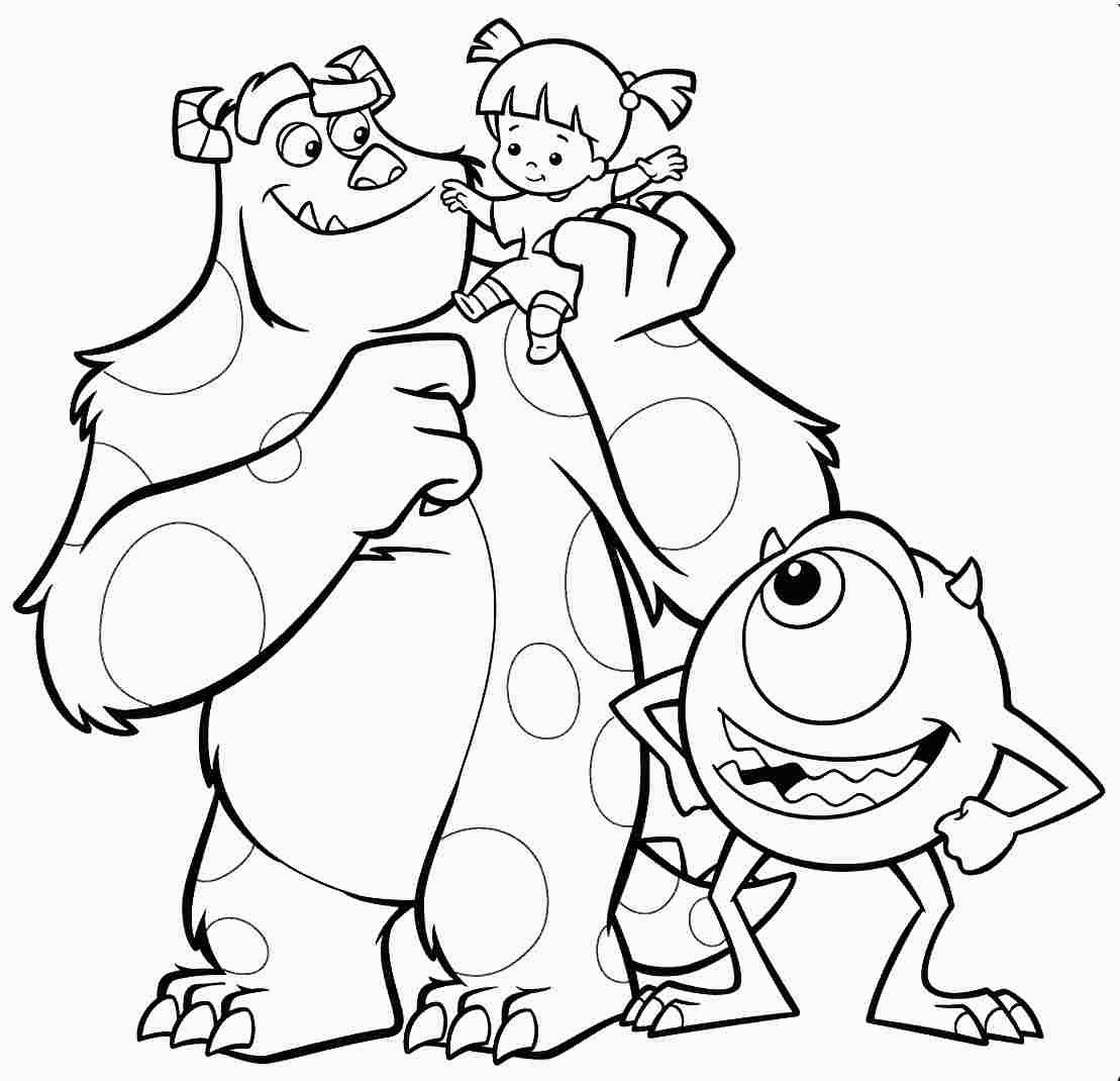 - Monster Inc Coloring Pages Best Monsters Inc Coloring Pages S For