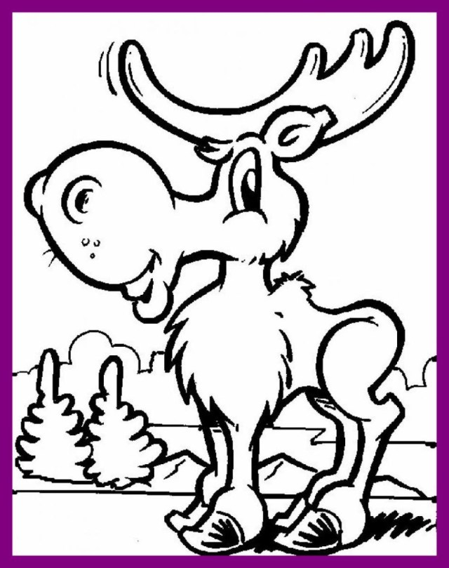 Moose Coloring Pages Fascinating Ba Moose Coloring Pages To Print For Kids Pict Of