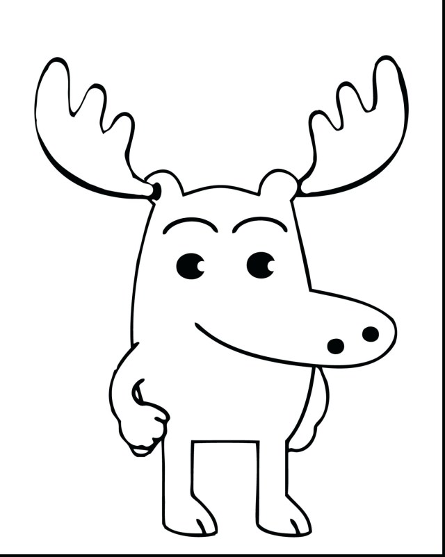 Moose Coloring Pages Moose Coloring Pages New Page Collection Printable Sheet 16502069