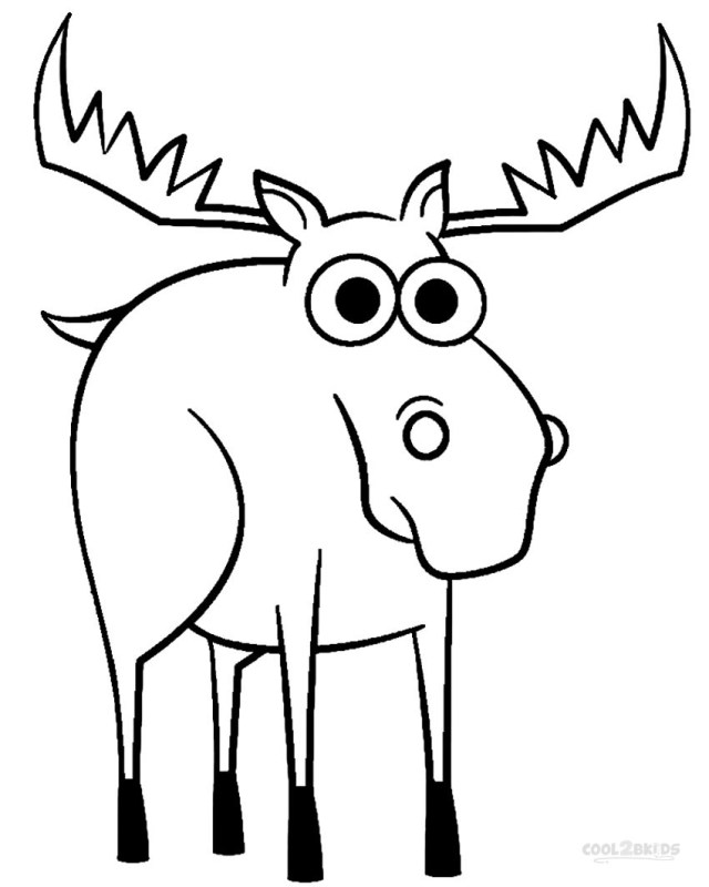 Moose Coloring Pages Printable Moose Coloring Pages For Kids Cool2bkids