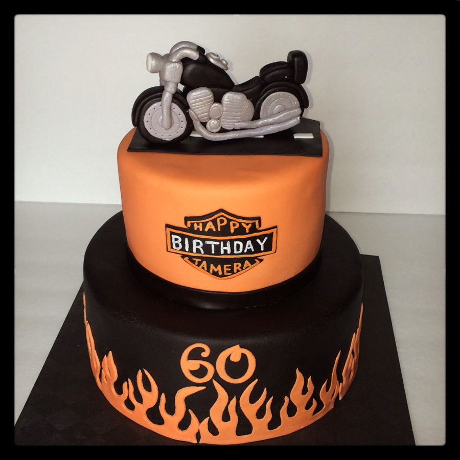Awesome Motorcycle Birthday Cake Harley Davidson Motorcycle Birthday Cake Funny Birthday Cards Online Overcheapnameinfo