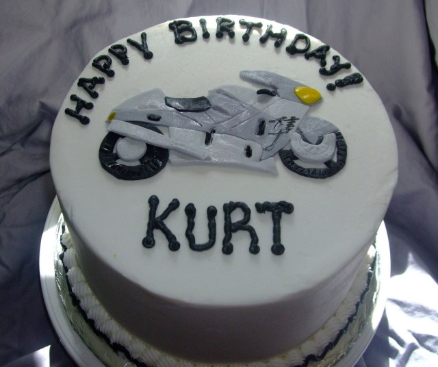 Motorcycle Birthday Cake Motorcycle Birthday Cake Chocolate Cake With Buttercream F Flickr