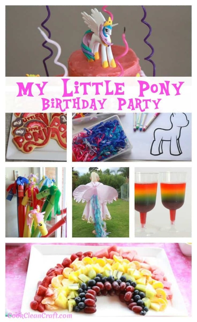My Little Pony Birthday Cake How To Host The Perfect My Little Pony Party Cook Clean Craft