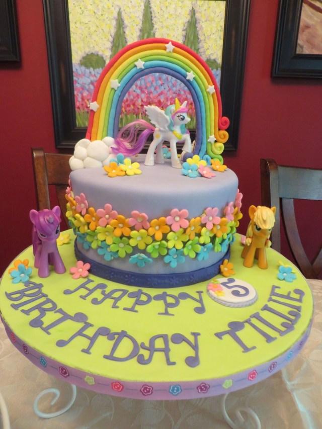 My Little Pony Birthday Cake My Little Pony 5th Birthday Cakecentral