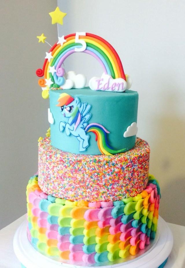 My Little Pony Birthday Cake Rainbow Dash Cake Buttercream Sweet For My Sweet Rainbow Dash