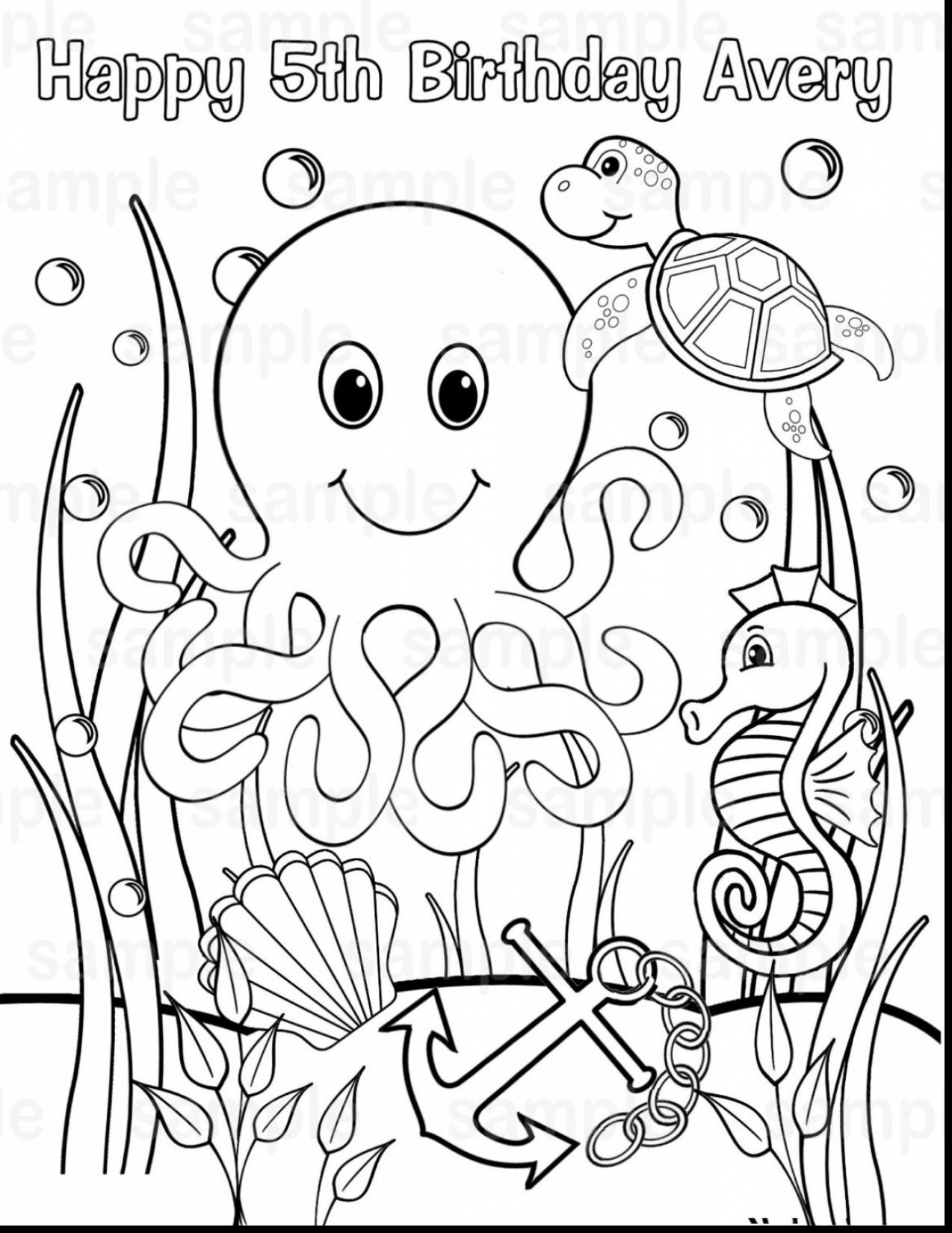 - 25+ Brilliant Image Of Ocean Animals Coloring Pages - Birijus.com