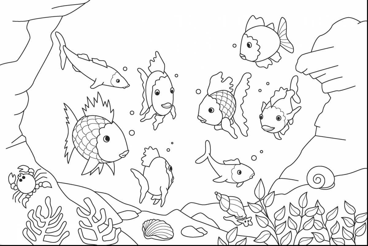 Ocean Animals Coloring Pages Inspirational Realistic Sea ...