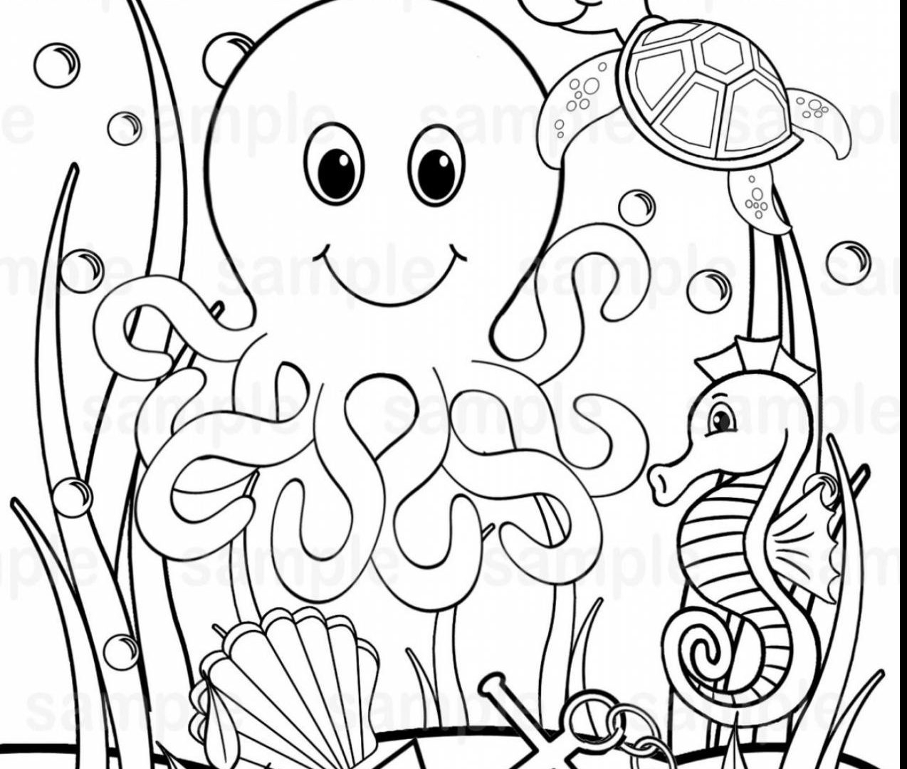 Ocean Animals Coloring Pages Literarywondrous Sea Animalsloring