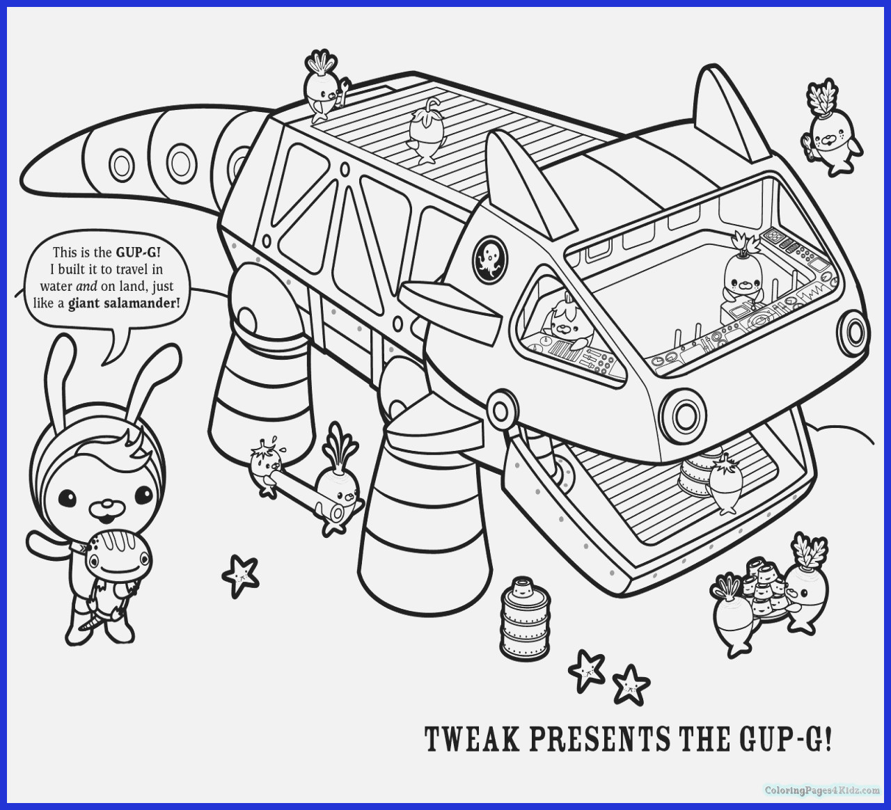 Octonauts Coloring Pages Coloring Pages Coloring Pages X