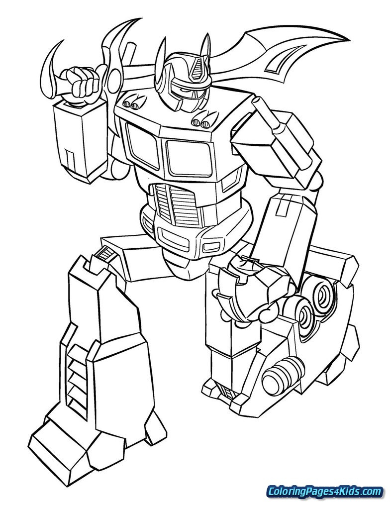 Optimus Prime Coloring Page Optimus Prime Coloring Page Free