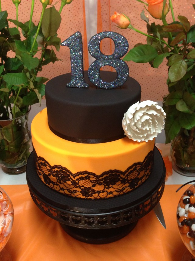 Orange Birthday Cake 18th Birthday Cake Orange And Black Colors Look Great Made