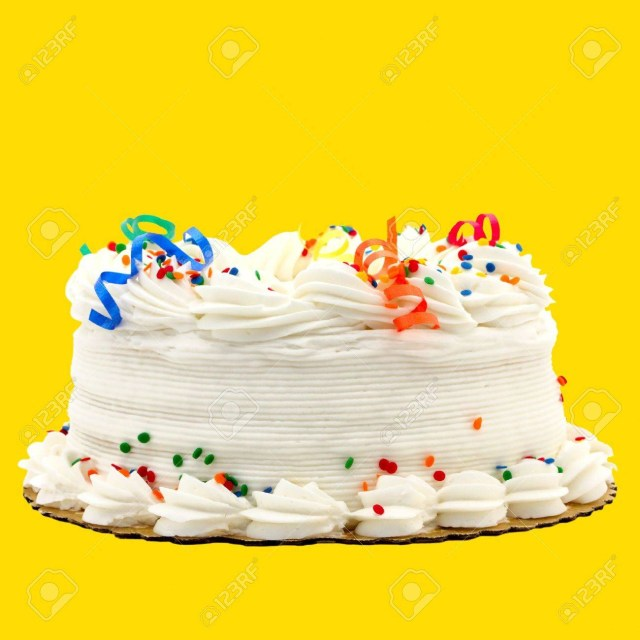 Orange Birthday Cake Delicious White Vanilla Birthday Cake With Rot Blau Grn Gelb Und