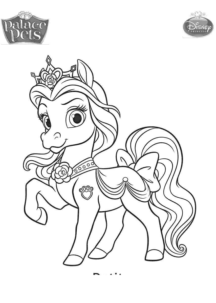 - Palace Pets Coloring Pages Disney Princess Palace Pets Coloring