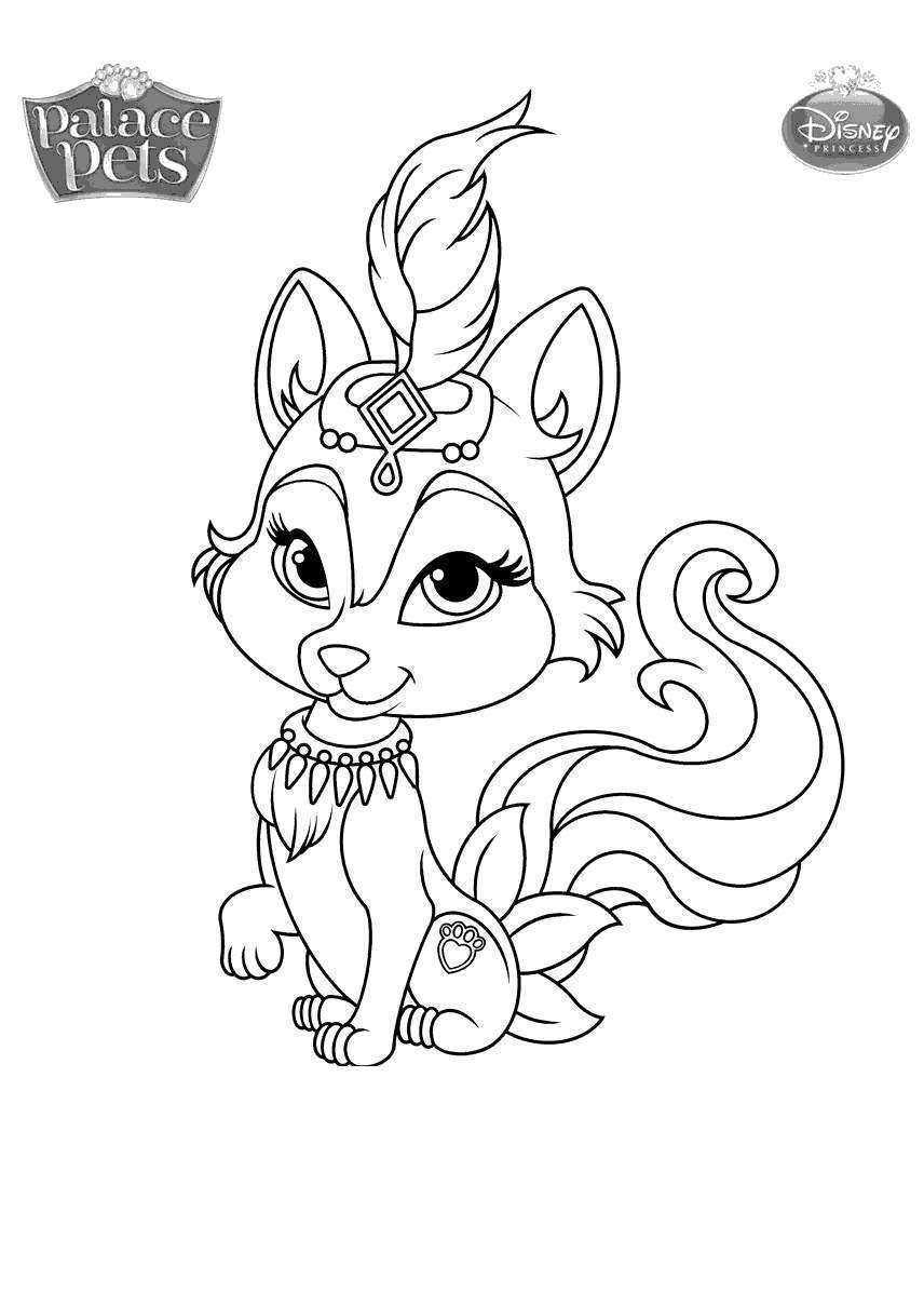 Palace Pets Coloring Pages Princess Palace Pets Coloring ...