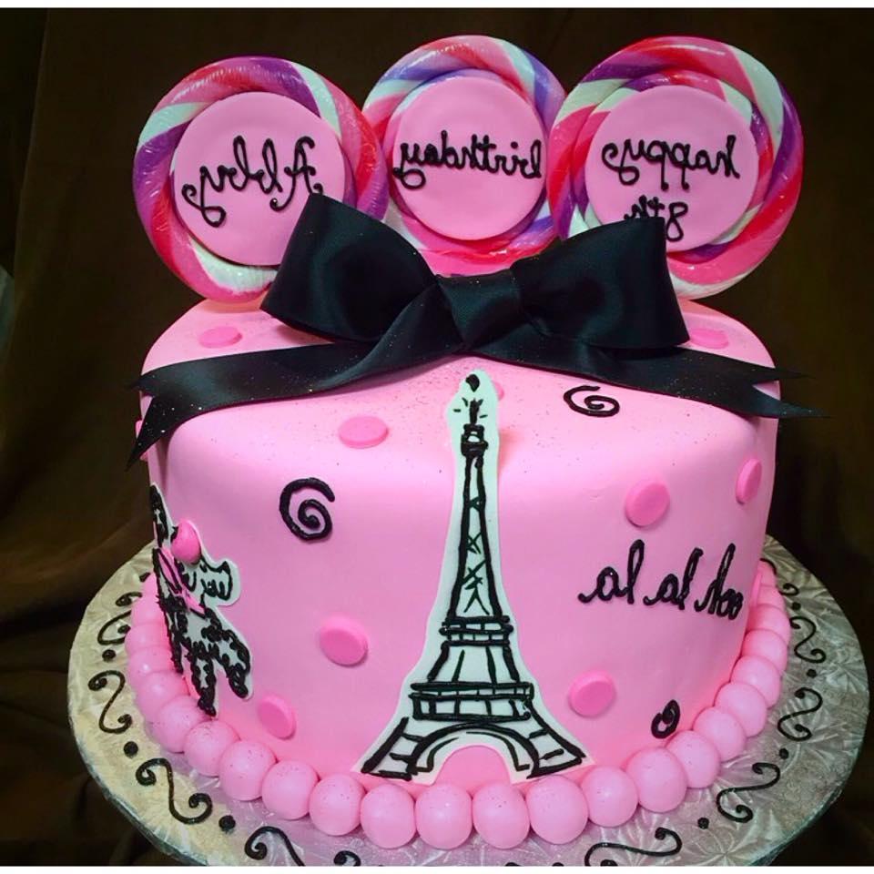 Superb Paris Themed Birthday Cake Paris Themed Birthday Cakes Q0D4 Funny Birthday Cards Online Fluifree Goldxyz