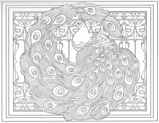 Peacock Coloring Pages Genuine Advanced Peacock Coloring Pages Luxury Adult Flower