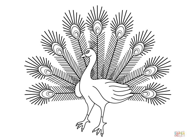 Peacock Coloring Pages Peacocks Coloring Pages Free Coloring Pages