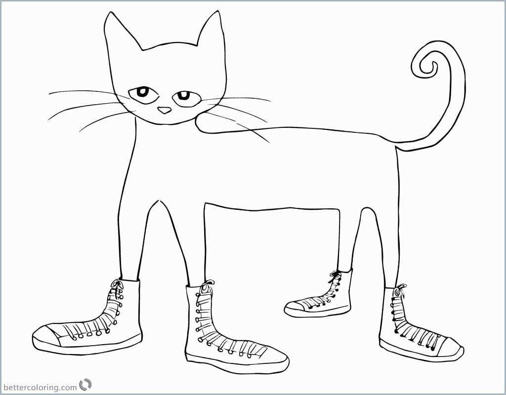 Pete The Cat Coloring Page Pete The Cat Coloring Page Pretty Pete The Cat I Love My White Shoes Birijus Com